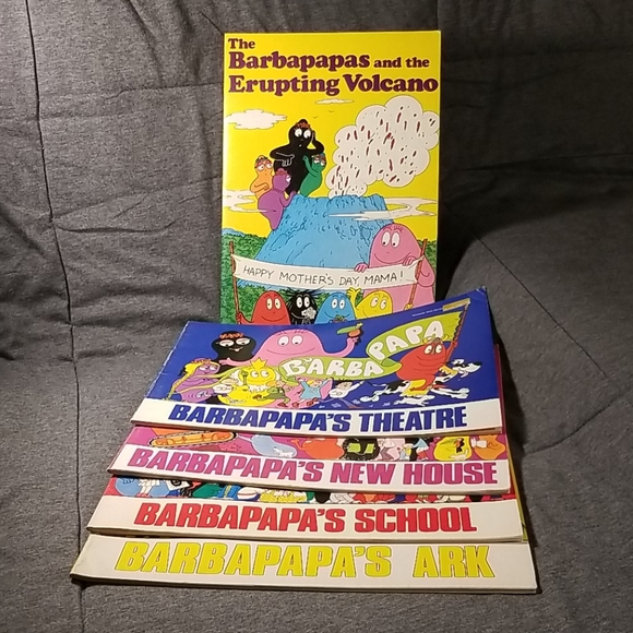 VINTAGE Lot 5 Barbapapa Books 70s/80s Scholastic
